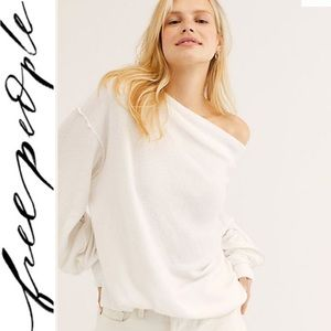 NWT FREE PEOPLE White sweater lightweight small